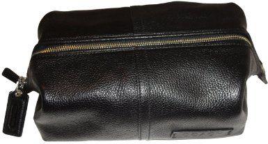 Men s Coach Pebble Leather Framed Toiletry Travel Bag Kit Black http   www. 879080704fa9e