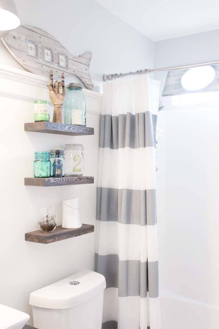 nautical bathroom accessories. BEFORE  AFTER This Childish Bathroom Goes Glam With Seaside Inspiration