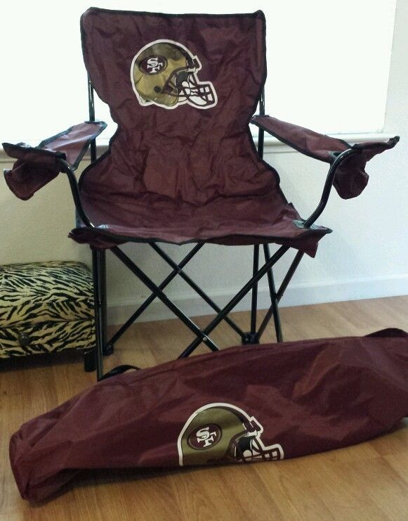 49ers Camping Chair Desk Chairs On Sale San Francisco With Drink Holders Nfl Kaepernick Crabtree