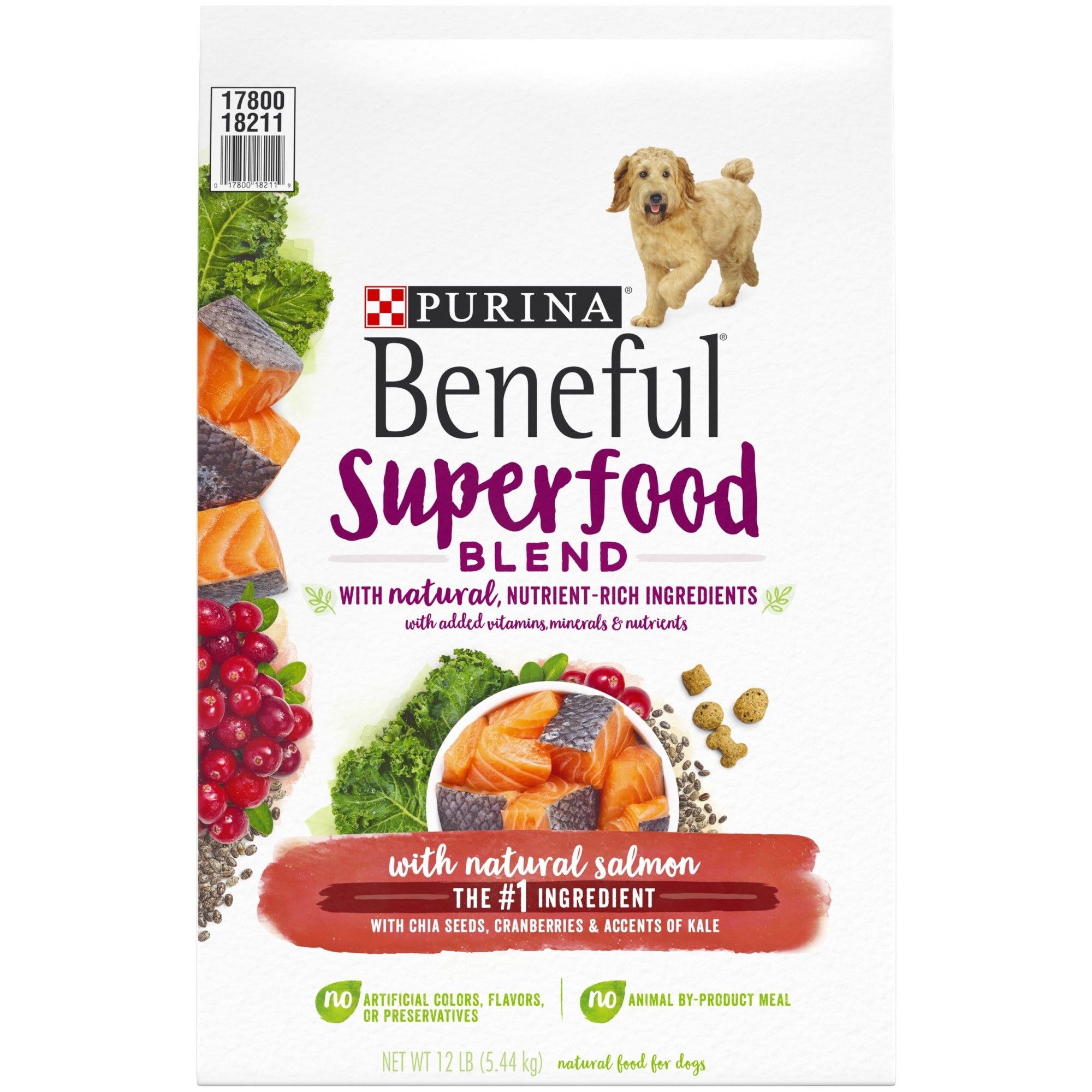 Nestle Purina Beneful Superfood Blend With Natural Salmon Chia