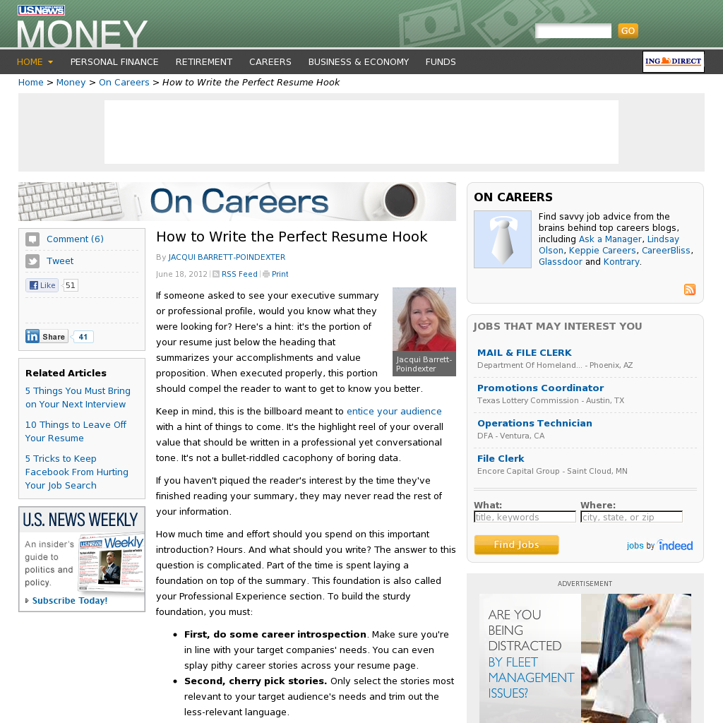 How To Write The Perfect Resume Hook