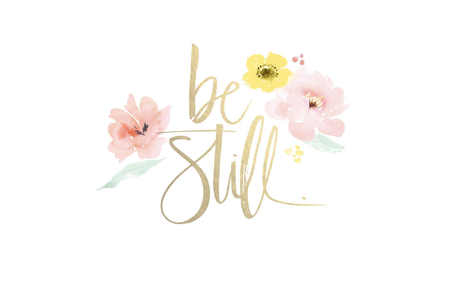 Be Still Watercolor By Julie Song Desktop Wallpapers Pretty Desktop Backgrounds Desktop