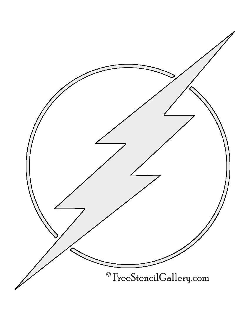 The Flash Symbol Stencil | Quilting | Pinterest | Stenciling ...