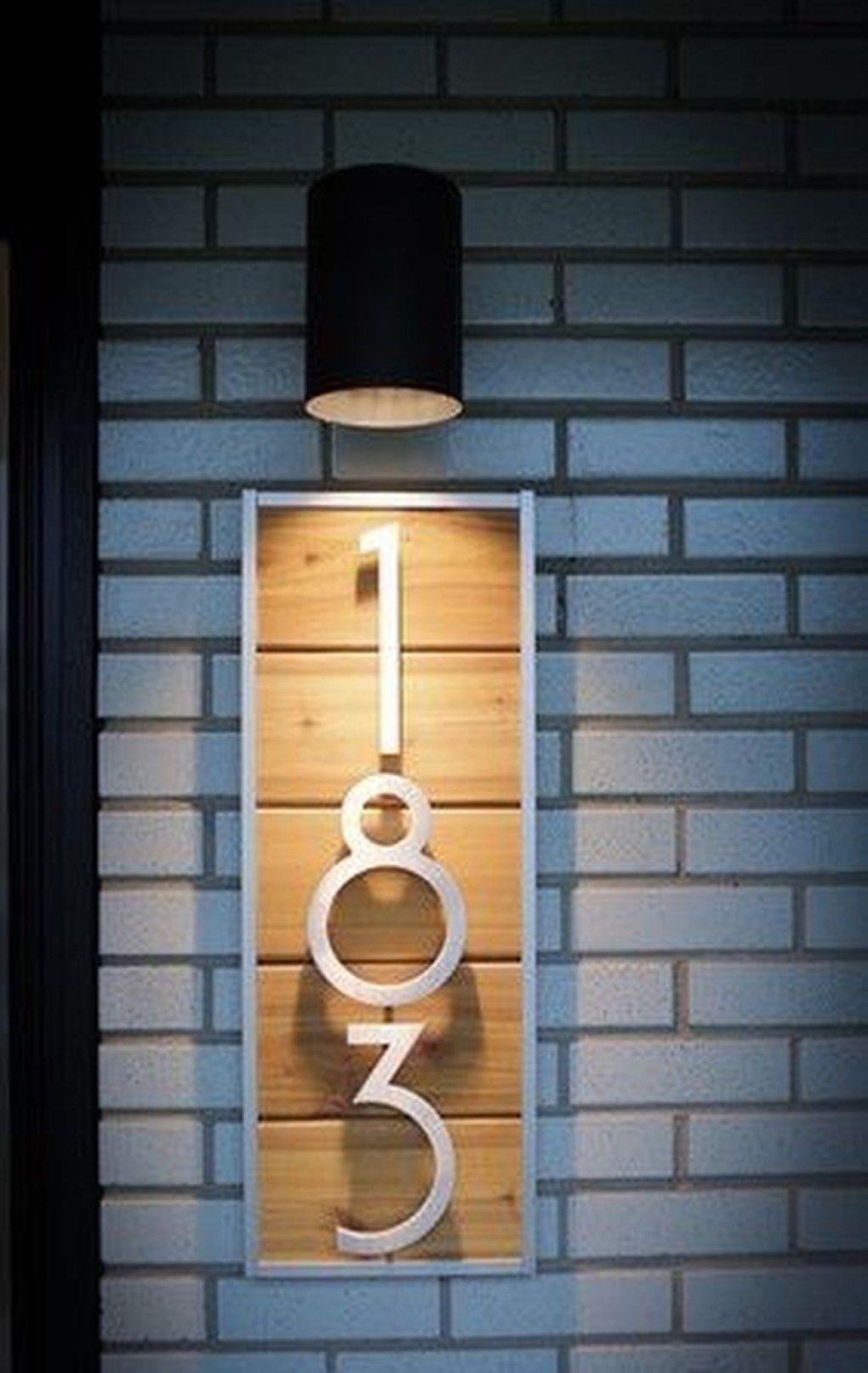 50 adorable diy modern address plate design ideas house