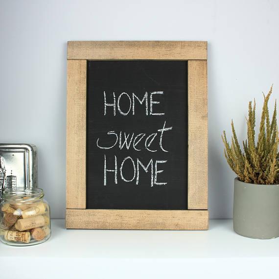 Rustic wooden chalkboard Rustic wood framed chalkboard | Small ...