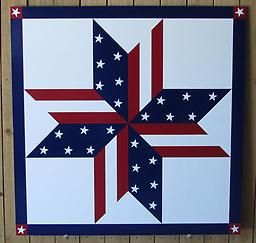 Patriotic Barn Quilt Patterns Stars Stripes Ss0001 This Stars And Stripes Pattern Is Handpainted Painted Barn Quilts Barn Quilt Patterns Patriotic Quilts