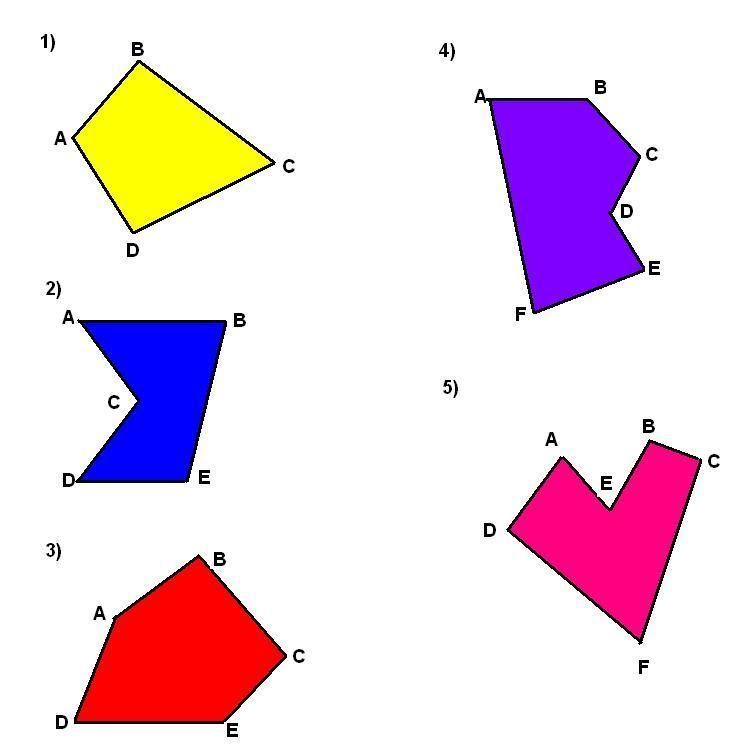 Resultado De Imagen Para Poligonos Convexos Y Concavos Concavo Poligono Geometría