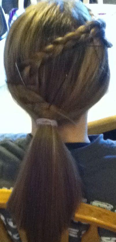 Easy braid, not even French braided! | Easy braids, Hair styles, Hair