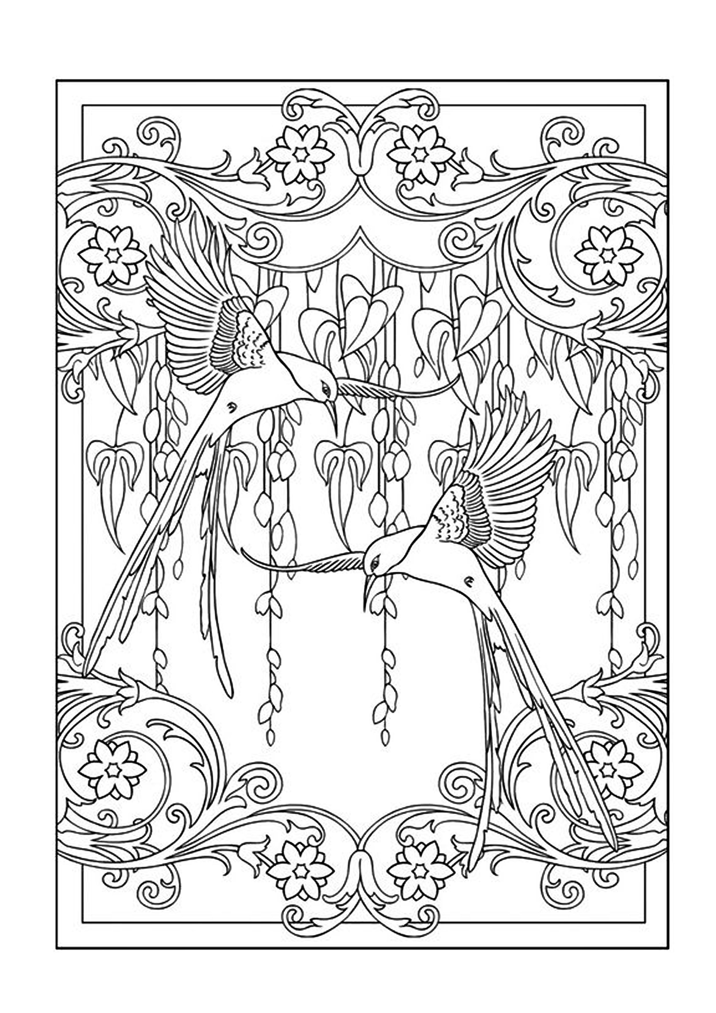 Colouring Books - FREE printable A4 size - Hummingbirds // Imagenes ...