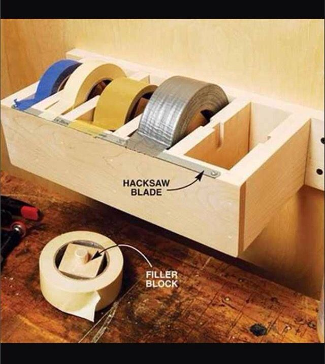 this will make it easier to tear than sticky duck tape on cool diy garage organization ideas 7 measure guide on garage organization id=70833