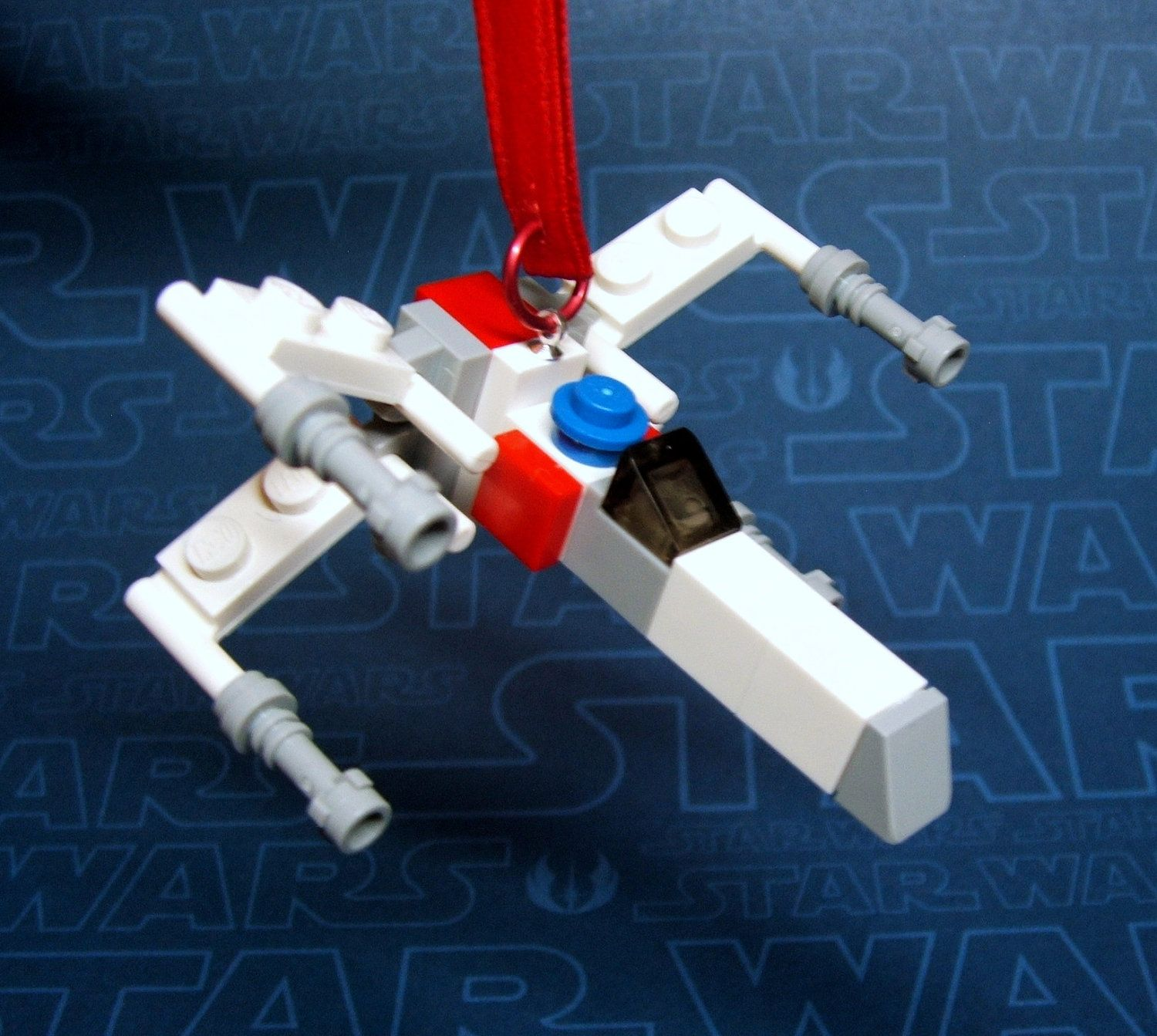 Xwing starfighter star wars christmas ornament made from genuine
