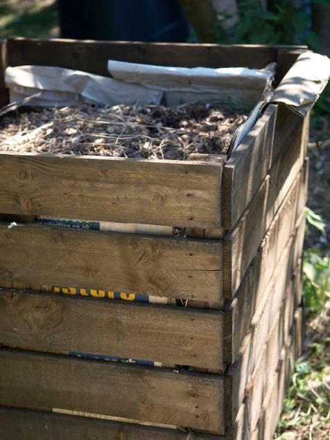 How to Make Compost (With images) | Wooden compost bin ...