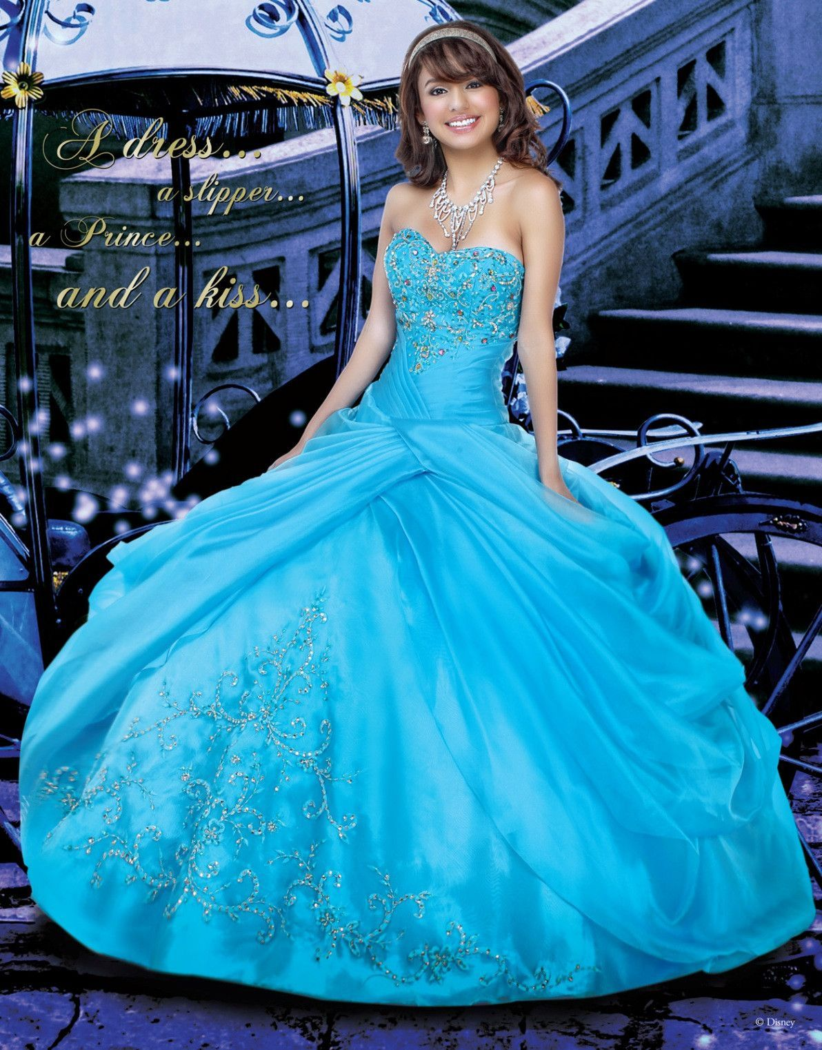 Disney Royal Ball Quinceanera Dress Cinderella Style 41003 | Royals ...