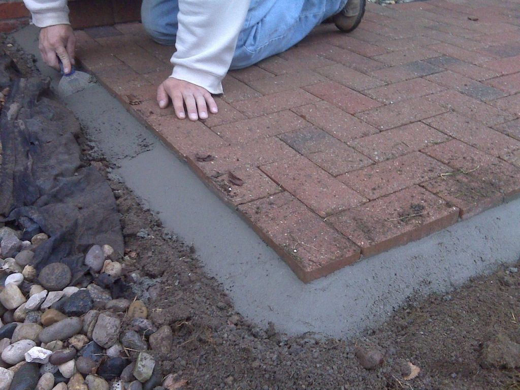 backyard brick paver and cement ideas Yahoo Image Search