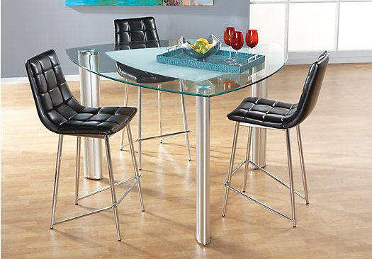 Shop For A Onyx Black 4 Pc Counter Height Dining Room At Rooms To Beauteous Rooms To Go Dining Sets Design Decoration