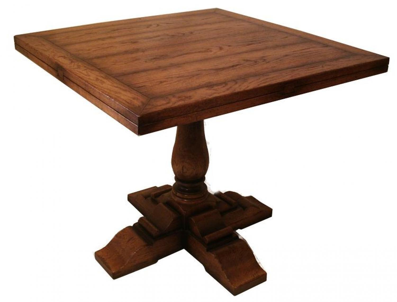 Oak Pedestal Table Square To Round Picture 2 Oak Furniture Oak Furniture