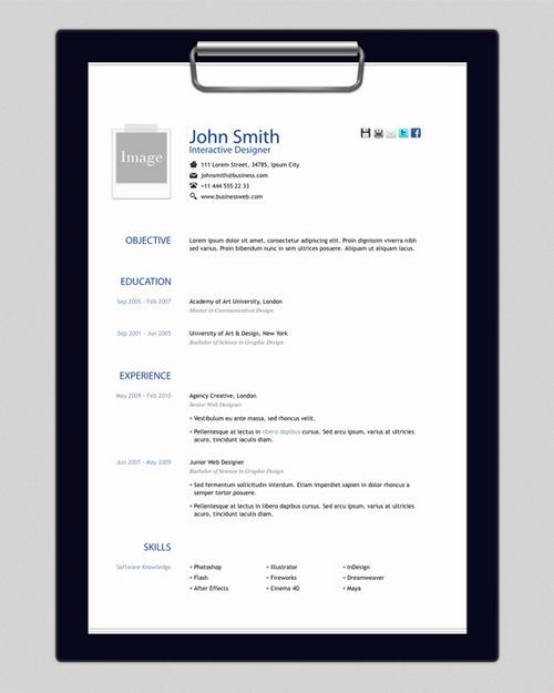 Amazing Collection Of Free Cv Resume Templates Creative Resume Templates Resume Template One Page Resume Template