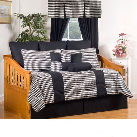 Princeton Black White Daybed Bedding #BeddingNMore #Daybed