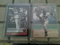 4 barry bonds baseball cards lot #4 nice...