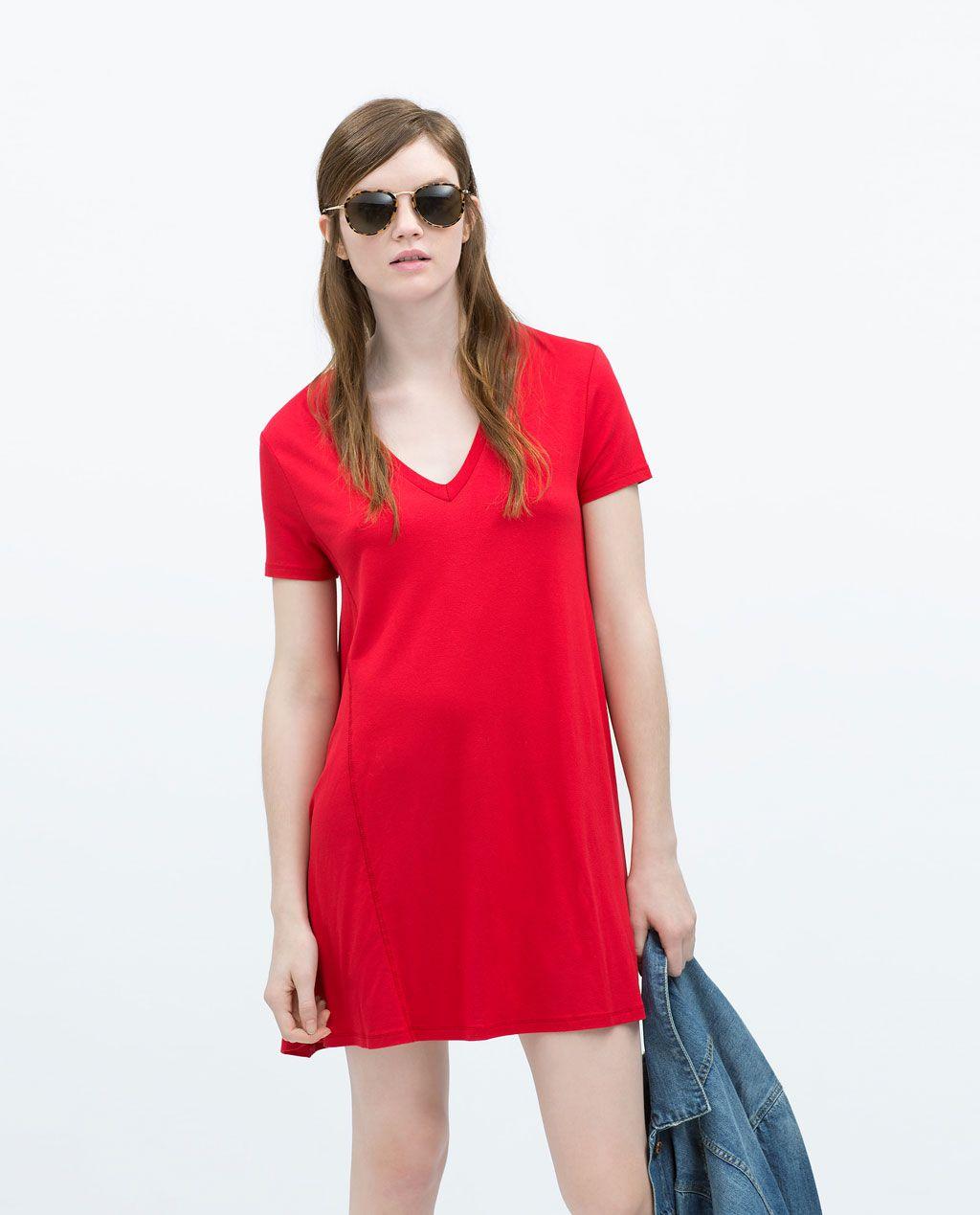Zara woman oversize dress look ium a girl pinterest