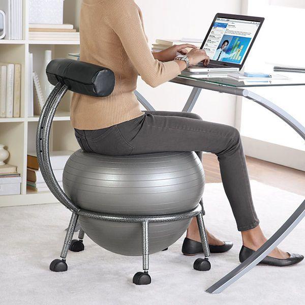 Golden Undulating Workspaces Balance Ball Chair Ball Chair Exercise Ball Chairs