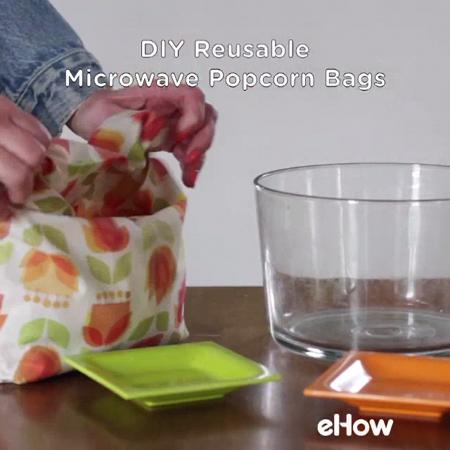 DIY Reusable Microwave Popcorn Bag #sewingprojects