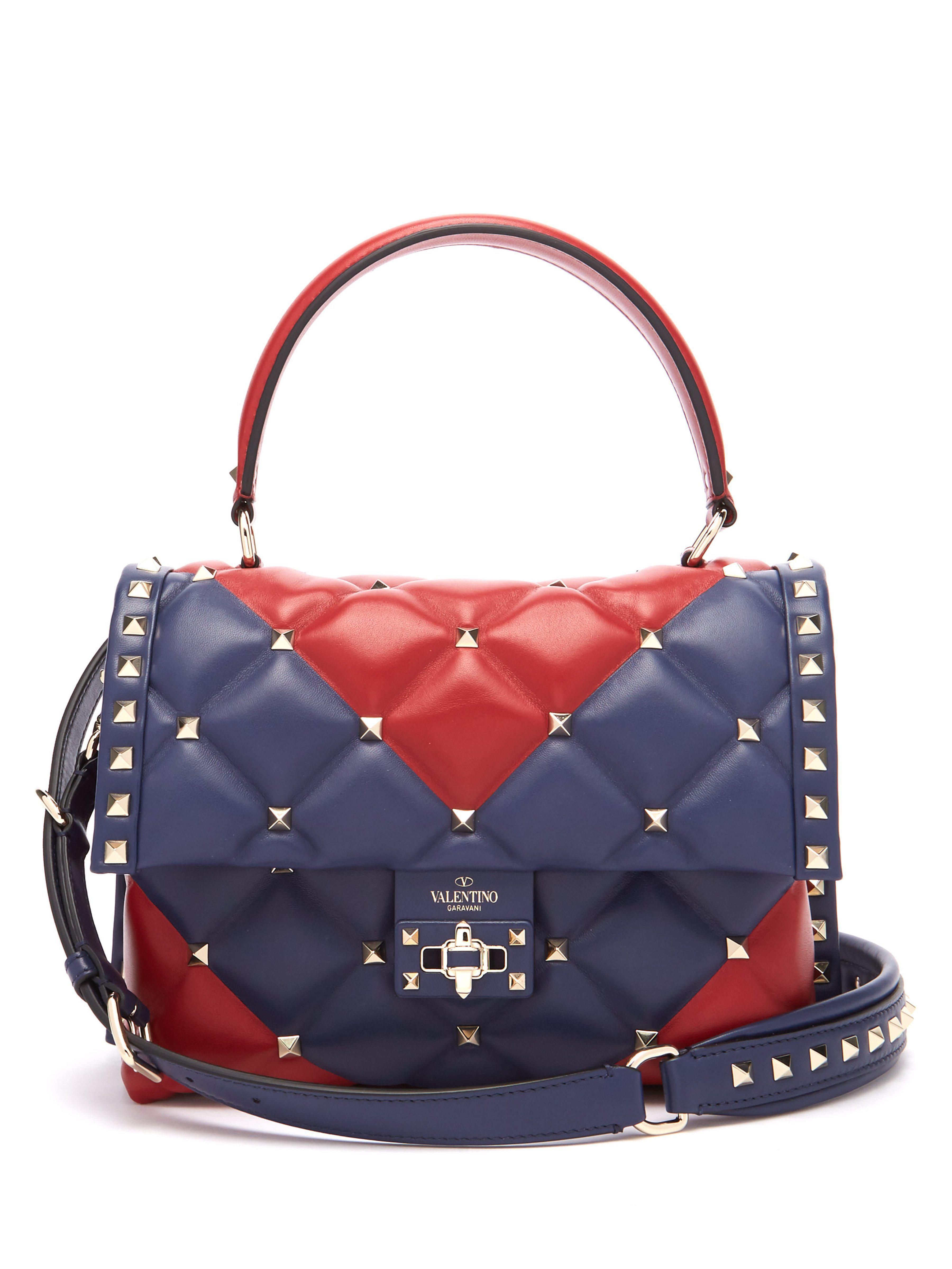 806f5c4b2d Candystud Quilted Leather Cross Body Bag - Multicolor - Valentino Shoulder  bags