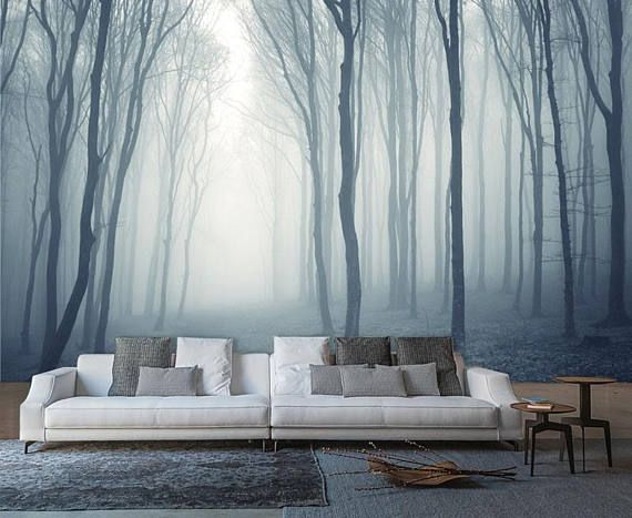 Mystical Foggy Forest Morning Haze In The Forest Nature Wall
