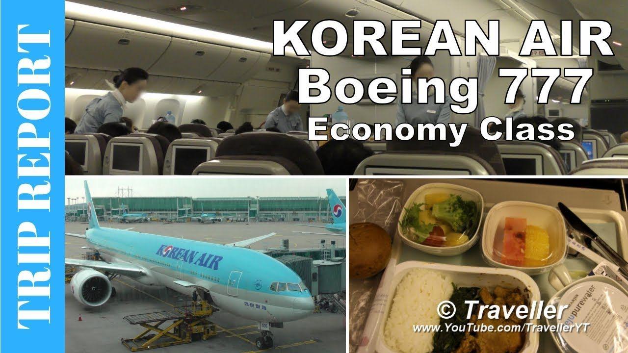 RELATÓRIO DE VIAGEM voo da Korean Air Economy Class