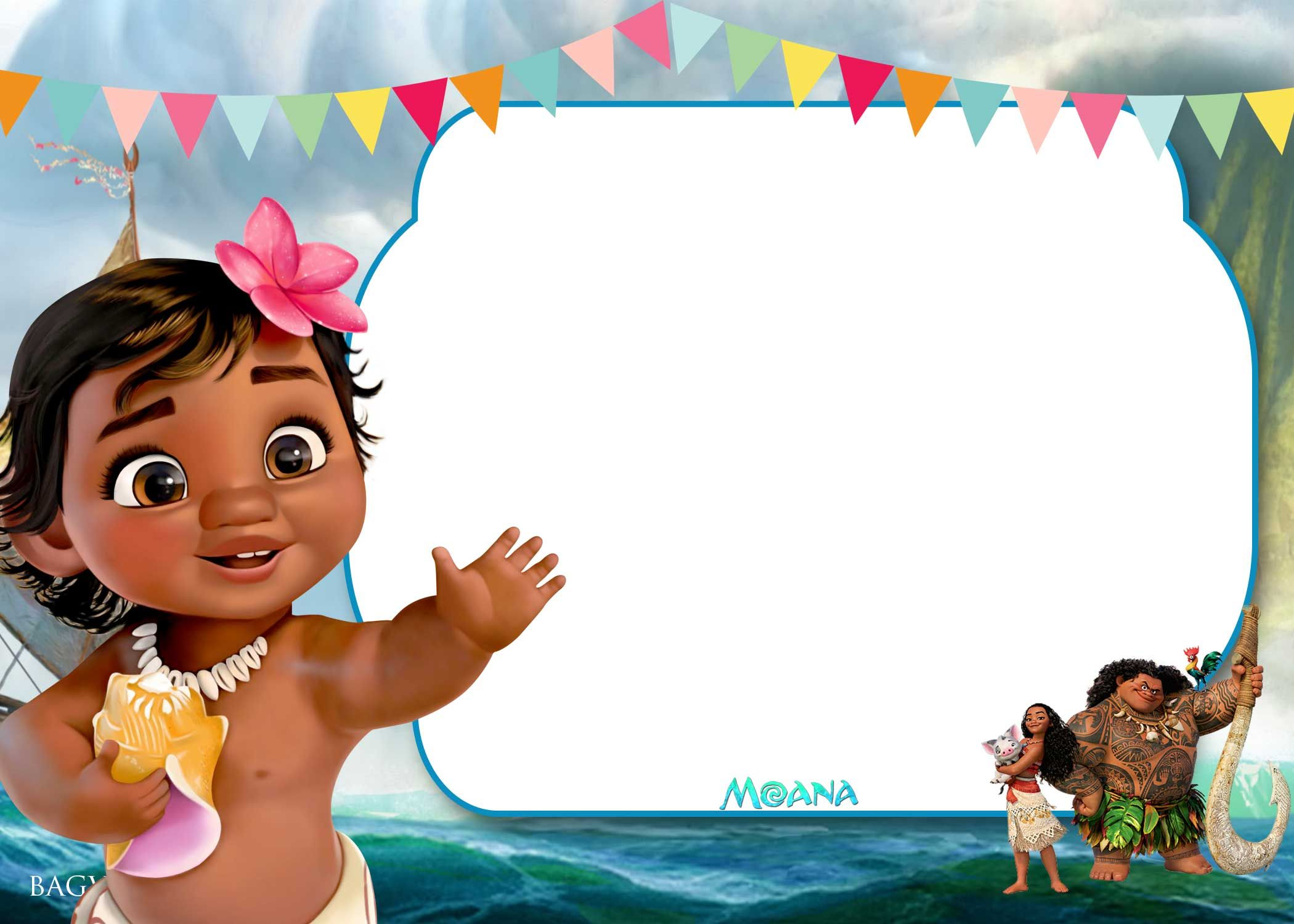free printable little moana birthday and baby shower invitation drevio invitations design