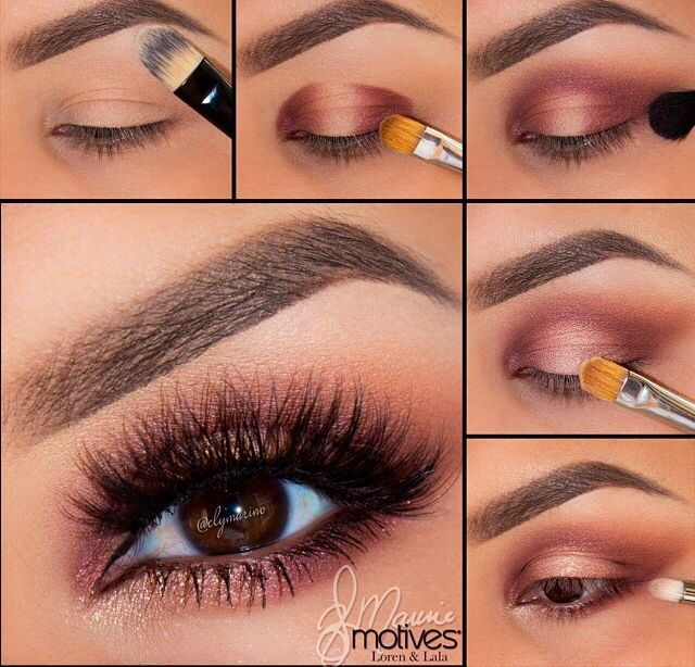 Soft shimmery smokey eyes
