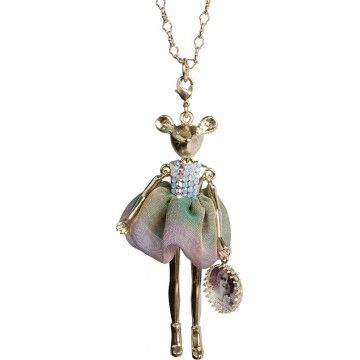 Mouse with ombre skirt necklace by Servane Gaxotte. 3