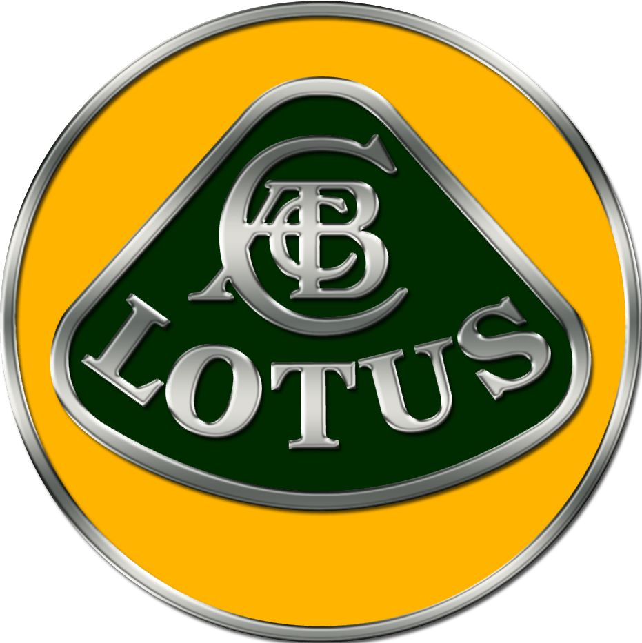 The letters at the top of the Lotus logo are the initials of Lotus' founder, Anthony Colin Bruce Chapman. It's unknown why he chose the name 'Lotus' for his car company. The green background is British Racing Green, the color of British cars in his day. The yellow background symbolizes the sunny days Mr. Chapman hoped lay ahead for his company.