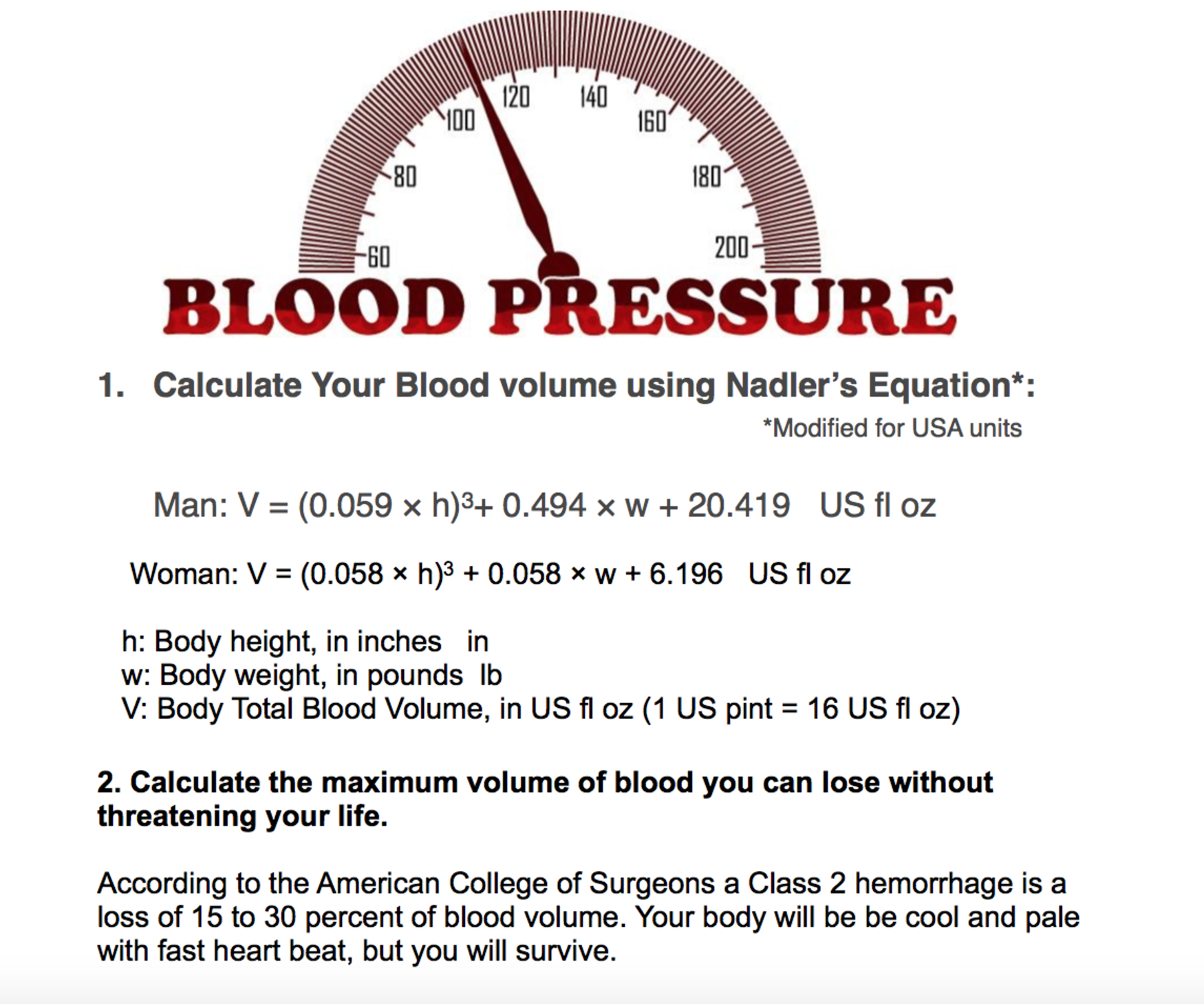 8b How Much Blood Can You Lose And Survive Usa