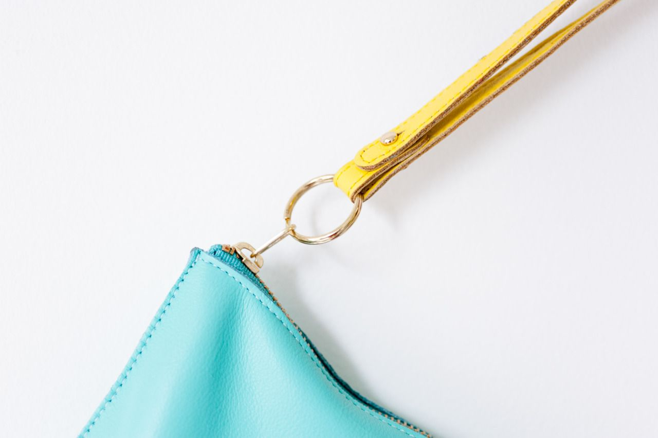 #baggu citron loop keychain and mint pouch