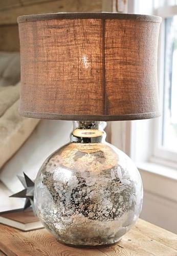 Rich Brown Burlap Lamp Shade Burlap Lampshade Diy Lamp Shade Mercury Glass Lamp