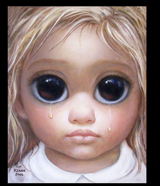 Margaret Keane La Niña De Los Ojos Tristes Esquire Ojos Grandes Ojos Tristes Pintura De Ojo