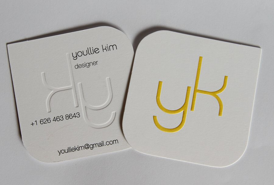 die cut, embossing, foil stamping, Square rounded corners business ...