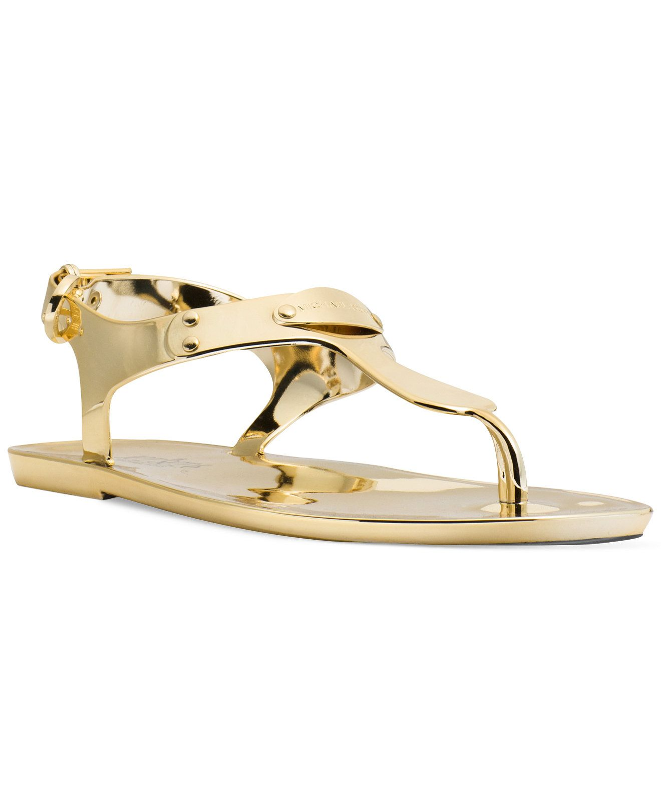 bf41683f510 MICHAEL Michael Kors Plate Jelly Thong Sandals - Shoes - Macy's ...