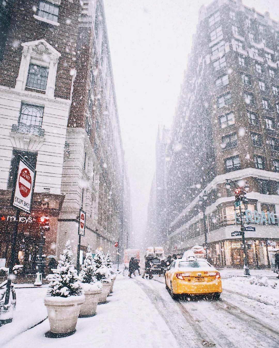 Winter Womderland New York Nyc Christmas New York Christmas Winter City