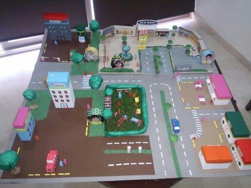 Maquetas con material reciclado paisajes cuidado del for Proyecto construccion de aulas escolares