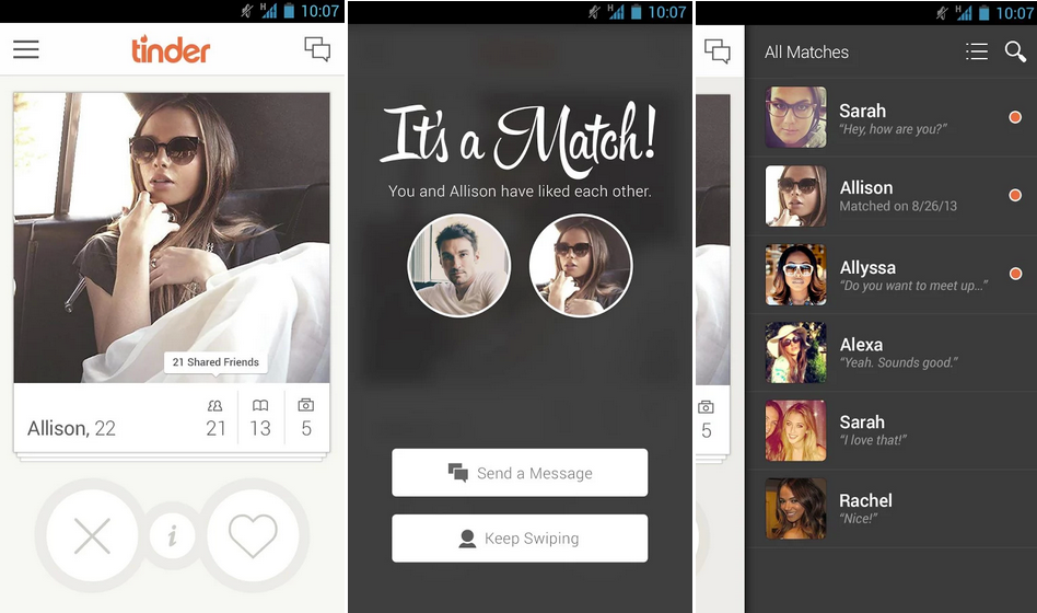 Tinder wie Hookup-Apps