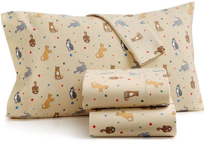 Tan Martha Stewart Collection Twin Flannel Sheet Set Ideal Ventures