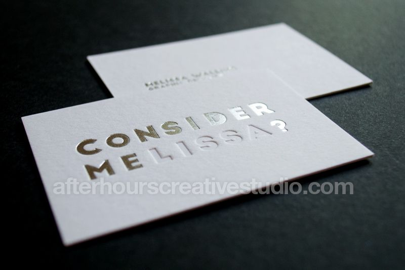 Luxury Business Cards Satin Gold Foil Cotton Business Cards