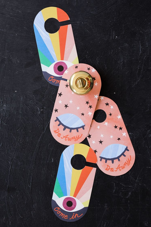 New knobs! And printable door hanger | Pijama, Imprimibles y Free