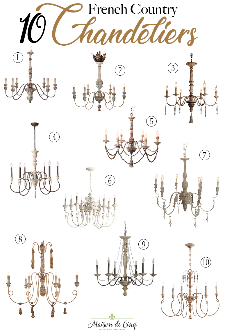 Ten of the Most Stunning Rustic French Country Chandeliers  Ten of the Most Stunning Rustic French Country Chandeliers