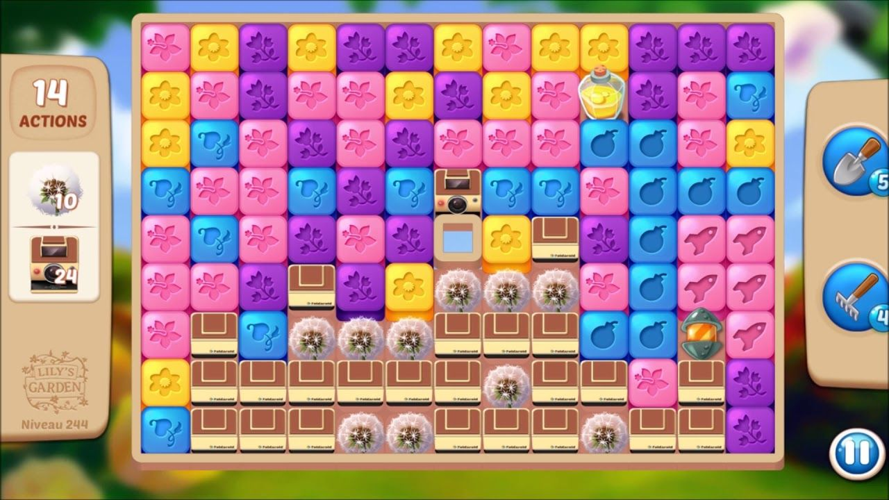 Lily S Garden Level 244 No Boosters Design Puzzle Lily Garden Lily