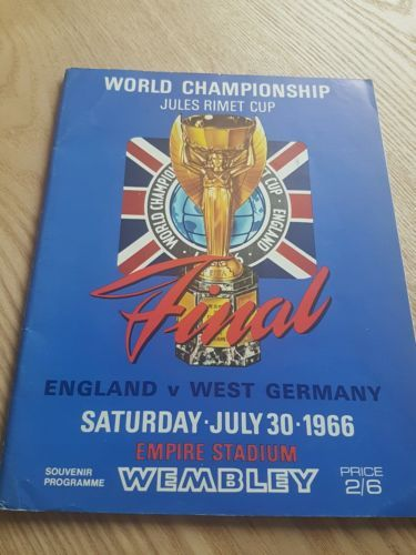 #England v west germany #world cup final 1966 #programme,  View more on the LINK: 	http://www.zeppy.io/product/gb/2/302088418819/