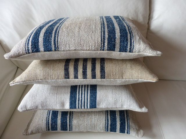 Leiner Kissen antique aus einem bauern getreide mehl leinen sack unbenutztes