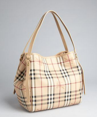 9edde25e5d Burberry : trench and Haymarket check coated canvas Canterbury shoulder bag